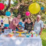 avos na festa colorida